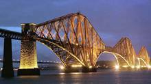 The Forth Rail Bridge connects Edinburgh with Fife in Scotland. (Ciaran Donnellly / Railtrack / Reuters/Ciaran Donnellly / Railtrack / Reuters)