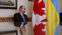 First Deputy Speaker of the Ukrainian parliament Andriy Parubiy in Ottawa February 23, 2015. (CHRIS WATTIE/REUTERS)