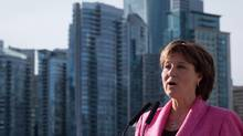 British Columbia Premier Christy Clark speaks about shadow flipping in the real estate industry, in Vancouver, B.C., on Friday March 18, 2016. (DARRYL DYCK/THE CANADIAN PRESS)
