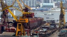 A 2004 photo of China State Shipbuilding Corp (CSSC) yard in Shanghai. A wave of cash fuelled by cheap debt allowed China to edge South Koreas as the world's top shipbuilder in the last decade. (CLARO CORTES IV/CLARO CORTES IV/REUTERS)