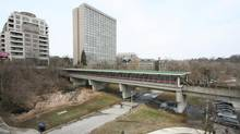 Old Mill Station offers a panoramic view of the Humber River . Long shot. (Dave LeBlanc)