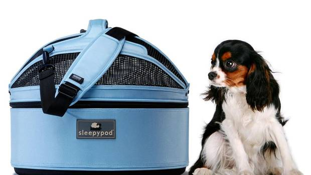 Pint-sized pets can snooze in style in Sleepypod. The lightweight travel bed has a luggage-grade, ballistic nylon base and an ultra plush removable lining that can be machine washed and dried. Zip up its mesh dome and use it as a carrier or car seat. $189.99, petonly.ca