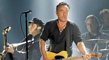 Bruce Springsteen performs at the 54th annual Grammy Awards in Los Angeles, Feb. 12, 2012. (MARIO ANZUONI/MARIO ANZUONI / REUTERS)