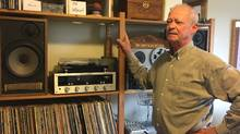 Despite having to pare his record collection, Mark DeWolf of Halifax sees an upside to apartment living. (Roma Luciw/The Globe and Mail)