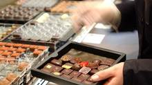 Belgian chocolatier Pierre Marcolini's designer shop on Brussels' Sablon square. (Thierry Charlier/AP Photo)