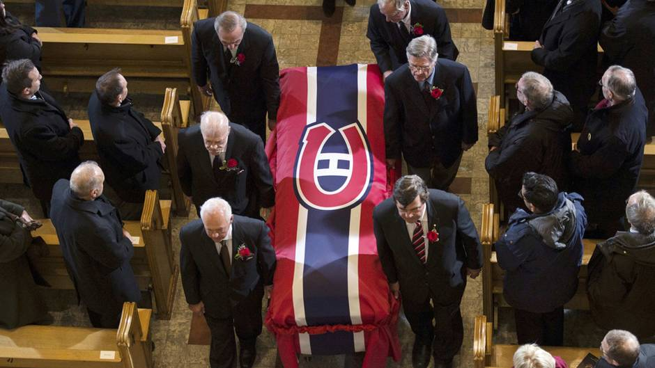 Images From The Funeral Service For Jean Beliveau