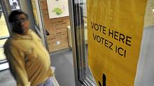 Voters enter a poling station in brampton, October 6, 2011. (J.P. Moczulski for The Globe and Mail)