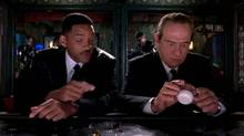 "Screen grab from the online trailer for the film ""Men in Black 3,"" starring Will Smith, Tommy Lee Jones and Josh Brolin"