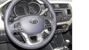 Inside the Kia Rio.