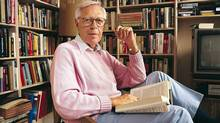 A 1996 photograph of author and former CBC news anchor Knowlton Nash in his home in Toronto, ON. The picture was taken as the award-winning jounalist promoted his latest book, Trivia Pursuit: How Showbiz Values Are Corrupting the News. Nash decried what he saw as the sorry state of the media, arguing that journalism was 'in trouble because of its current obsession with immediacy, with the pursuit of trivia, with entertainment and gossip.' (PETER BREGG/CP)