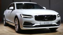 The Volvo S90 debuts at the North American International Auto Show in Detroit, Monday, Jan. 11, 2016. (Paul Sancya/AP)
