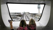 The Vancouver International Airport (YVR) from the Canada Line, November 26, 2010. Vancouver, BC. (Laura Leyshon for the Globe and Mail/Laura Leyshon for the Globe and Mail)
