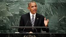 United States President Barack Obama addresses the 71st session of the United Nations General Assembly at U.N. headquarters on Sept. 20, 2016. (Richard Drew/AP)