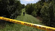 Body parts of Liu Guahuang were discovered along the West Highland Creek in Scarborough on Aug. 20. (Deborah Baic/The Globe and Mail)