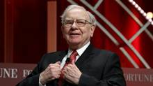 Warren Buffett, chairman and CEO of Berkshire Hathaway, takes his seat to speak at the Fortune's Most Powerful Women's Summit in Washington October 13, 2015. (Kevin Lamarque/Reuters)