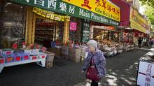 A street scene from the historic Chinatown in Vancouver, British Columbia, Tuesday, May 23, 2017. There is growing concern that recent and planned property development in the area is changing Chinatown. Rafal Gerszak/The Globe and Mail (Rafal Gerszak/The Globe and Mail)