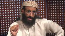 In this image taken from video and released by SITE Intelligence Group on Monday, Nov. 8, 2010, Anwar al-Awlaki speaks in a video message posted on radical websites. Al-Awlaki, the U.S.-born radical Yemeni cleric linked to previous attacks on the U.S., called for Muslims around world to kill Americans in the new video message. (SITE Intelligence Group/AP/SITE Intelligence Group/AP)