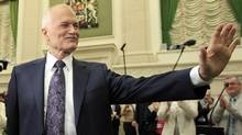 NDP Leader Jack Layton arrives at a caucus meeting in Ottawa on May 25, 2011. (CHRIS WATTIE/REUTERS)