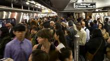 Transit users crowd a subway platform at Union Station in Toronto, Wednesday, May 22, 2013. (Kevin Van Paassen/The Globe and Mail)