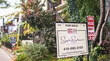 An open house sign in Toronto is seen in this file photo. (JENNIFER ROBERTS For The Globe and Mail)