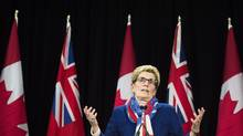 Ontario's ruling Liberals are expected to unveil promised cuts to electricity bills in Monday's Throne Speech, tackling the province's most intractable pocketbook irritant. Premier Kathleen Wynne is calculating that such a pivot toward bread-and-butter concerns is necessary to reverse poor poll numbers and plot a course to re-election. (Nathan Denette/THE CANADIAN PRESS)