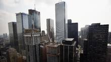 Toronto's Financial District. A new report suggests the city risks losing out on a tremendous opportunity for growth if it doesn't do more to nurture fintech startups. (Fred Lum/The Globe and Mail)