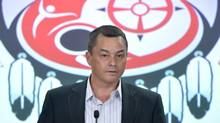Shawn speaks at a news conference in Ottawa on Friday, May 2, 2014. Atleo is resigning as the national chief of the Assembly of First Nations. THE CANADIAN PRESS/Adrian Wyld (Adrian Wyld/THE CANADIAN PRESS)
