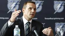 Steve Yzerman addresses the media during a news conference in Tampa, Florida, May 25, 2010 (BRIAN BLANCO/REUTERS)