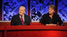 "Conrad Black on the BBC show ""Have I got news for you"" with comedian Paul Merton. (Handout)"