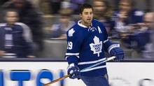 Toronto Maple Leafs Joffrey Lupul is out for the final 24 games of the season with a sports hernia. (Mark Blinch For the Globe and Mail)