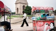 Coca-Cola has seen big growth in international markets, including India where sales are up 20 per cent in the second quarter. (Sanjit Das/Bloomberg)