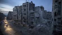 A hospital in Aleppo, Syria, destroyed by airstrikes targeting the rebel-controlled area last week. (Narciso Contreras/AP)