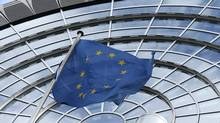 An European Union flag flutters outside of the European Parliament in Brussels October 12, 2012 (Francois Lenoir/Reuters)