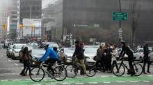 """The budget includes $17-million for """"active transportation corridors,"""" which will cover some of the work to create an Arbutus Greenway. (DARRYL DYCK For The Globe and Mail)"""