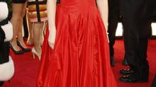 """Zooey Deschanel of the series """"The New Girl"""" at the 70th annual Golden Globe Awards in Beverly Hills, California January 13, 2013. (Retuers)"""