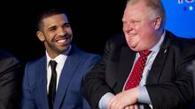 Rap star Drake, left, is one of Toronto's best-known exports to American pop culture. (Peter Power/The Globe and Mail)