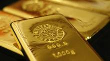 Gold bars are pictured at the Ginza Tanaka store in Tokyo in this file photo. (Issei Kato/Reuters)