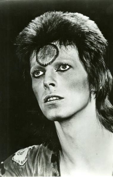"Davie Bowie in the 1972 Miramax Films release ""Ziggy Stardust And The Spiders From Mars"". (Handout)"