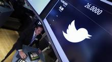 Twitter must grow 15 per cent annually for the next decade to match Facebook's one billion users. (Richard Drew/AP)