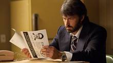 Affleck in Argo, the true story of how Hollywood, the CIA and then Canadian ambassador Ken Taylor conspired to sneak six U.S. hostages out of Tehran.