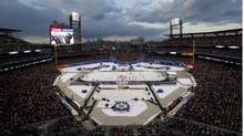 The NHL Winter Classic hockey game between the Philadelphia Flyers and the New York Rangers, Jan. 2, 2012, in Philadelphia. (Mel Adams/AP)