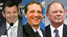 Marc Bergevin of the Montreal Canadiens, Dean Lombardi of the Los Angeles Kings and Bob Murray of the Anaheim Ducks