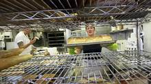 Cliffside Hearth Bread Company co-owner Camelia Proulx at work in the bakery. (Deborah Baic/The Globe and Mail/Deborah Baic/The Globe and Mail)