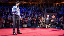 Ziauddin Yousafzai. the father of girls' rights activist Malala Yousafzai, wowed a rapt audience at the TED conference in Vancouver Monday night. (James Duncan Davidson)