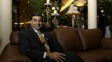 Terrence Leon, president of Leon's Furniture, shown in a Toronto showroom (DARRYL JAMES/THE GLOBE AND MAIL)