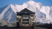 A truck hauls a load at Teck Resources Coal Mountain operation near Sparwood, B.C. in a handout photo. (The Canadian Press)