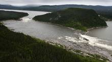 Muskrat Falls, on the Churchill River in Labrador. (Paul Daly For The Globe and Mail)