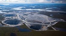 BHP Billiton's Ekati diamond mine is located 200 kilometers south of the Arctic Circle. and is Canada's first surface and underground diamond mine. (BHP Billiton)