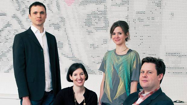 <p>From left: Tony Round, Sarah Knight, Andrea Kordos and Joe Knight</p>