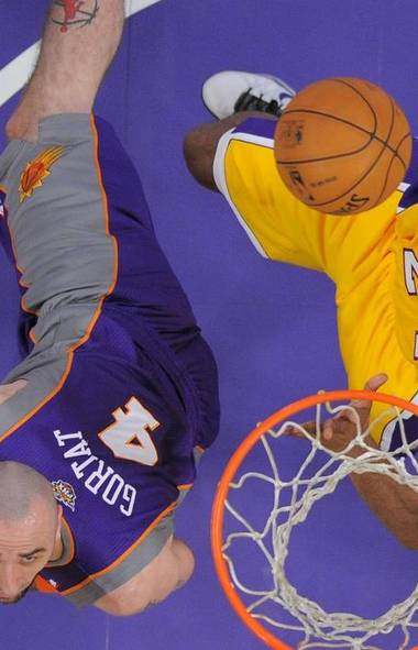 GOOD WEEK The Lakers' coaching situation may be in a state of upheaval, but things are never that bad in La-La land when you have the Black Mamba on your side. (Mark J. Terrill/AP)